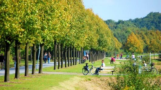 Der Nordsternpark in Gelsenkirchen lädt zum Verweilen ein.