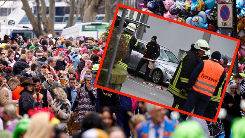 Karneval: Auto rast in Menschenmenge ++ Alle Umzüge abgebrochen ++ Erschütternde Zeugen-Aussage