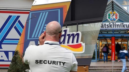 Führt das Coronavirus bald zum Einsatz von Security-Personal bei Supermärkten und Kliniken? (Symbolbild)