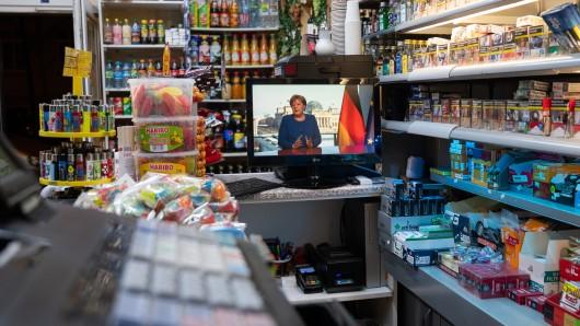 Angela Merkel wurde beim Einkaufen gesichtet.