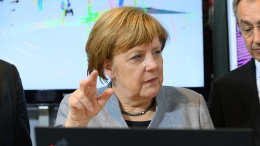 Angela Merkel hatte kurzzeitig ihre Stimme verloren.