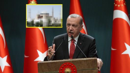 Türkei-Präsident Recep Tayyip Erdogan hat seine Drohung wahr gemacht und eines der Wahrzeichen von Istanbul verändert.