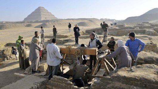 Wissenschaft: Forscher entdeckten bei Grabungen an einer Pyramide einen bedeutdenden Schatz. (Symbolbild)