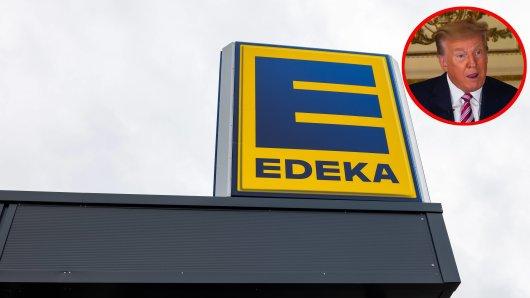 Edeka hat in einer Werbung gegen Ex-US-Präsident Donald Trump geschossen.