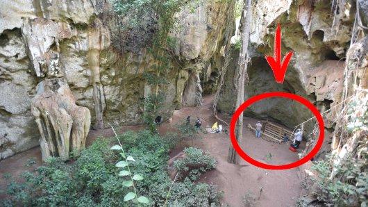Wissenschaft: Die Pangy ya Saidi-Höhle an der Küste Kenias. Hier machten Forscher eine bahnbrechende Entdeckung.
