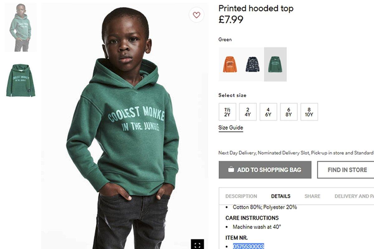 Schwarzes Kind im Affen-Pulli: H&M reagiert auf Rassismus-Vorwürfe ...