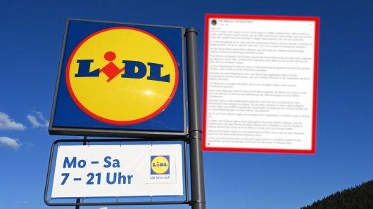 Ein Mann ließ seiner Wut auf den Lidl-Kundenservice vollen Lauf. (Symbolbild)