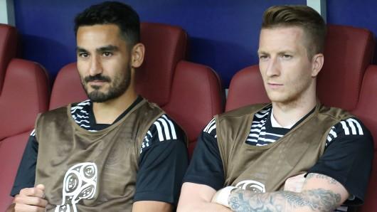 Marco Reus saß beim Auftaktspiel der DFB-Elf gegen Mexiko zunächst auf der Bank.