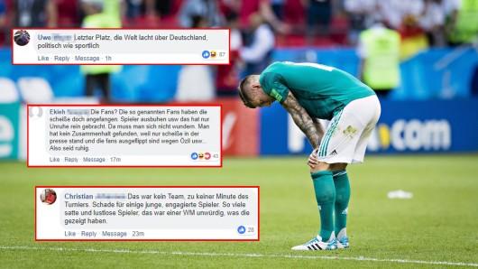 DERWESTEN-Leser haben teils Häme parat, liefern aber auch Erklärungen für das frühe Ausscheiden der deutschen Nationalmannschaft.