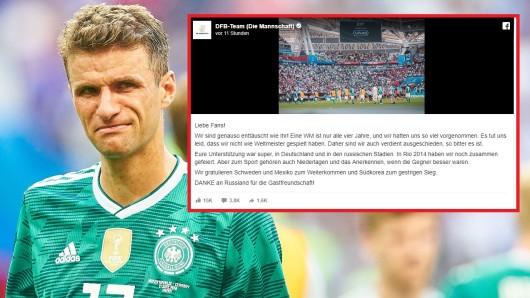Das DFB-Team schrieb nach dem Aus bei der WM 2018 einen emotionalen Brief an die Fans.