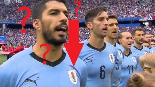 Uruguay gegen Frankreich bei der WM 2018: Ein Detail auf dem Trikot der Uruguayer irritierte die Fans.