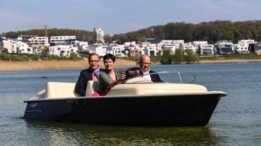 Am Donnerstag wurde der Bootsverleih offiziell eröffnet.