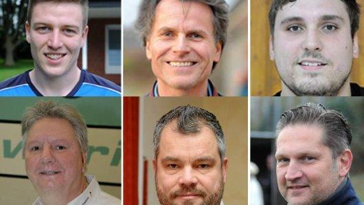 Felix Zimmermann, Uwe Blase, Dennis Zinfert, Wolfgang Beuler, Markus Dömer und Andreas Hagenhoff (v.l., v.o.).