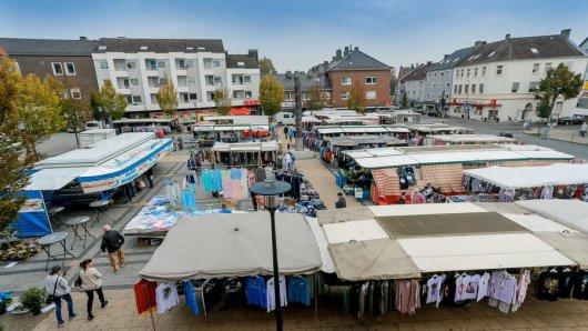 Der Wochenmarkt in Huckarde.