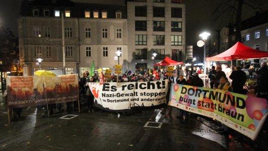 Die Polizei ist nicht für den ersten Demonstrations-Einsatz in Dorstfeld (hier im Januar 2015).