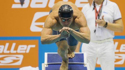 Erik Steinhagen von der SG Dortmund gewann Silber über die 50 Meter Brust.