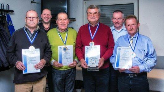 So war's 2015: Ehrungen bei BWW Langenbochum mit (v.l.) Kurt Prymka, Udo Wolfsdorff, Hans Scherer, Gerd Fischer, Gerd Roth, und Ingo Pawlazczyk.