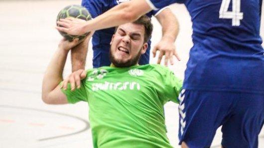 Kai Benthaus musste 60 Minuten lang im Rückraum durchspielen und erzielte fünf Tore.
