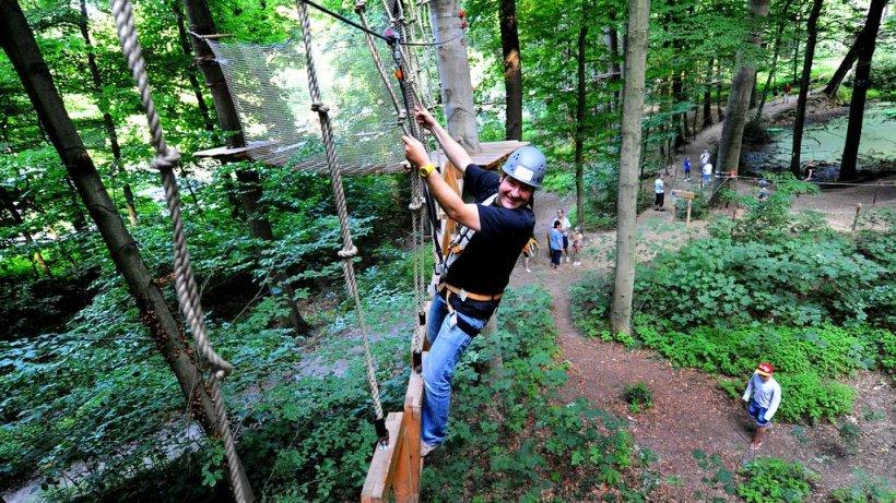 So kletterts sich im Freischütz-Kletterwald in Schwerte
