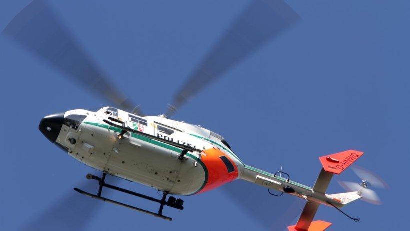 Hubschrauber über Düsseldorf Heute Nacht